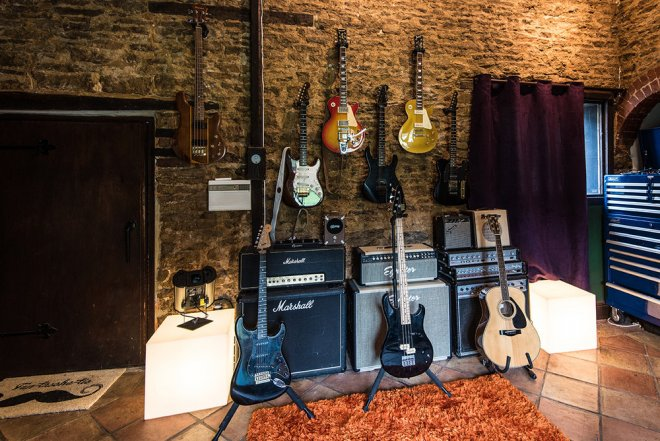 Guitars At Recording Studio Oxfordshire